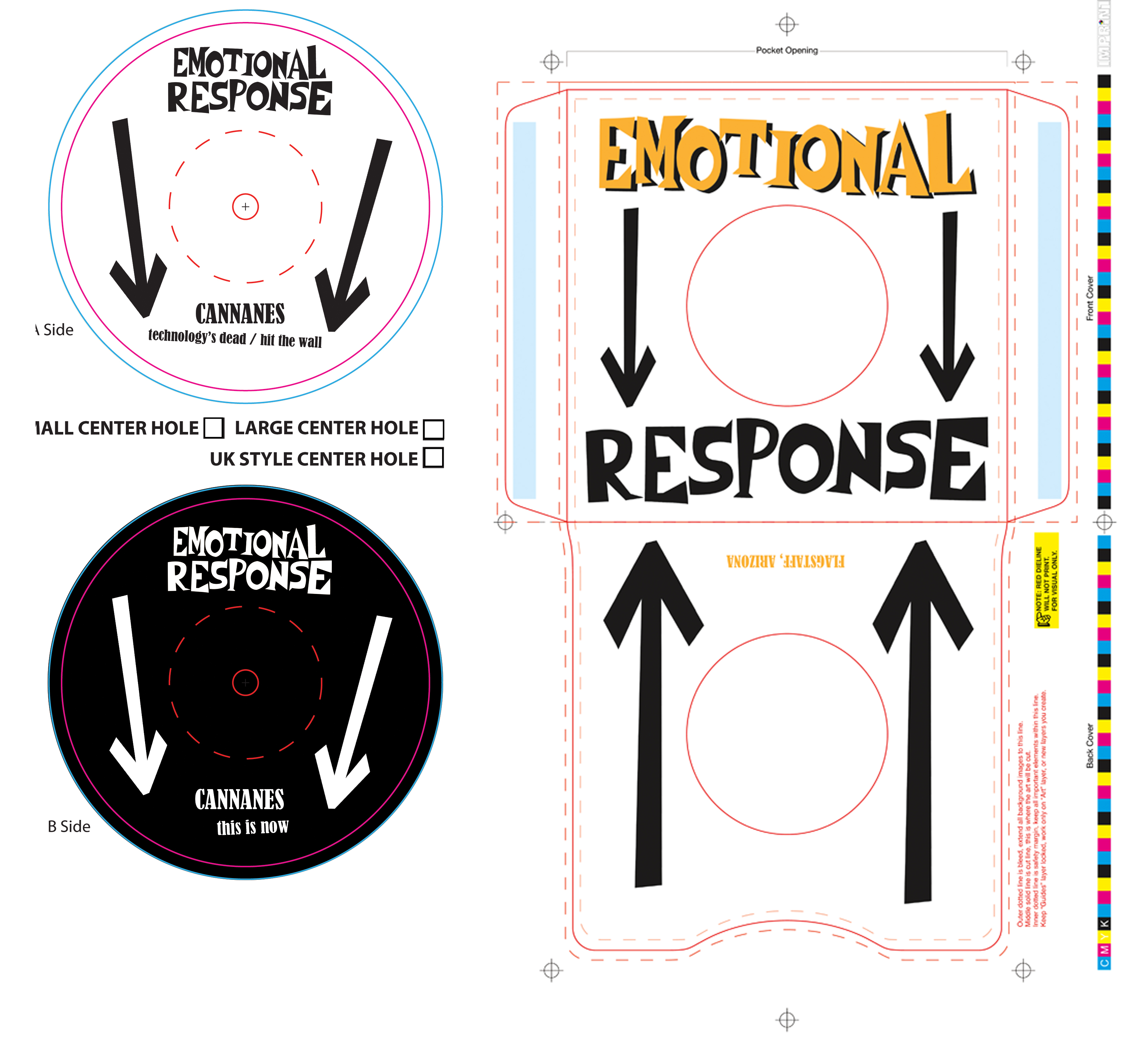 Sleeve Design & Label Art (Emotional Response Records
